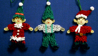 Dawn S Craft Blog Blog Archive Quilled Elf Ornaments